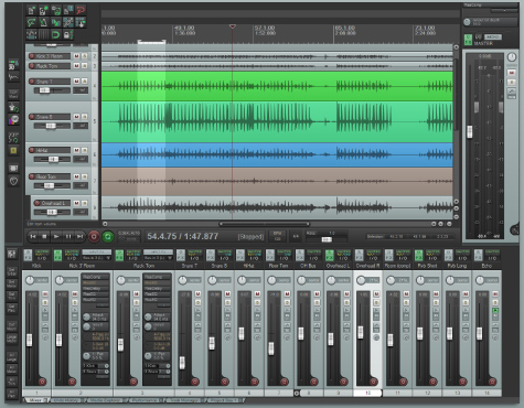 Sound design and audio editing software Reaper and its interface